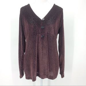 Chico's Sheer Button Front Cardigan